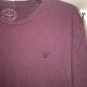 American Eagle Maroon men's T-shirt size large